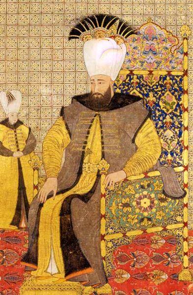 **Ахмед III** (1703--1730), султан који је укинуо ред мартолоза. Османска минијатура која се чува у Топкапи сарају у Истанбулу (Inv. A 3109, Fol 22v).