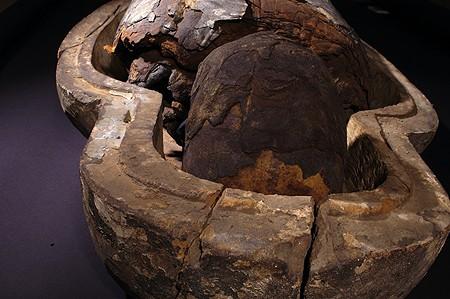 Мумија коју је купио Павле Риђички у Луксору 1888. године. Данас се налази у депоу Филозофског факултета у Београду