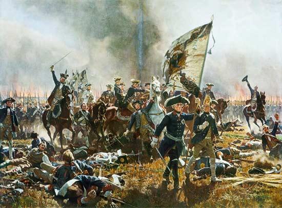 **Карл Рехлинг** (1855—1920), //Битка код Цорндорфа//, уље на платну, 1904. година.