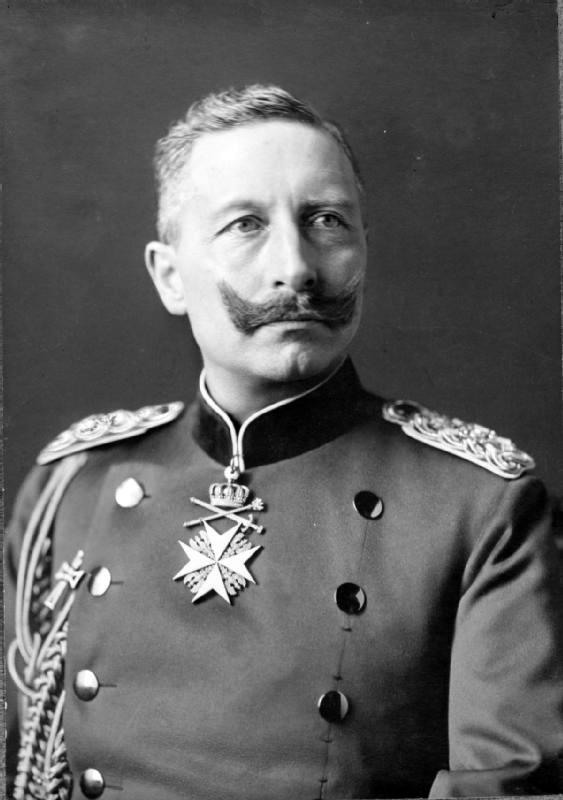 Вилхелм II (1888--1918), последњи немачки цар и пруски краљ.