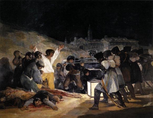 **Франсиско Гоја**, //3. мај 1808.//, Уље на платну из 1814. године, 268 х 347 цм, Музеј Прадо, Мадрид.