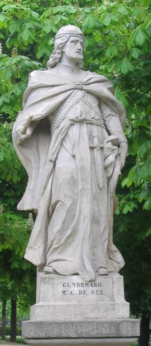 Гундемар. Скулптура у парку Ретиро, Мадрид