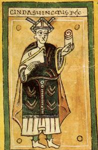 Хиндасвинт. Илустрација из кодекса Албелденсе.