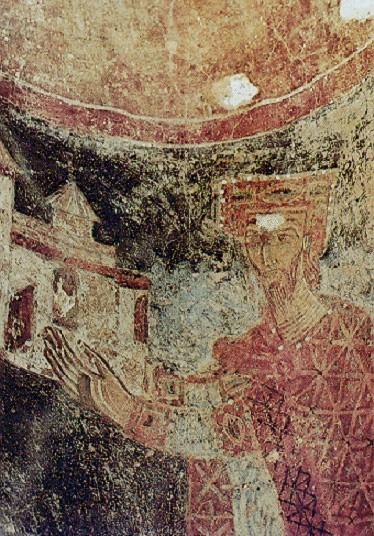Дукљански краљ Михаило Војислављевић - Фреска у Цркви светог Михајла у Стону (1080).