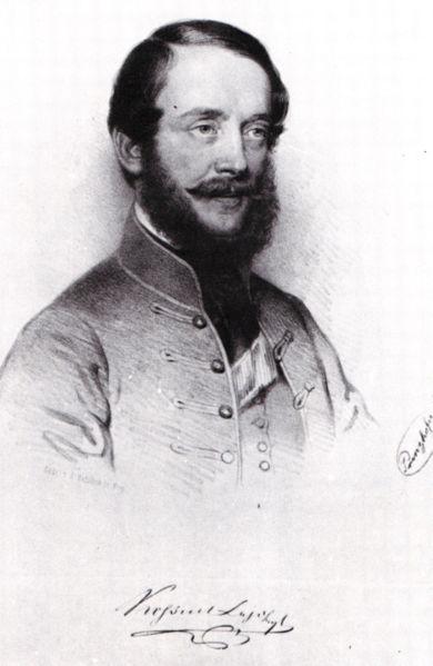 Лајош Кошут, мађарски, правник, политичар и вршилац дужности председника Мађарске у току 1849. године. У Енглеској и Америци је био је познат и признат као борац за слободу. Био је један од најистакнутијих вођа мађарске револуције из 1848. године заједно са Сећењијем и Петефијем.