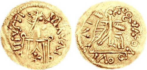 Леовигилдов златник, искован између 580. и 583.