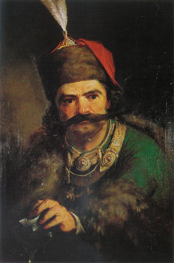 **Ђура Јакшић**, Мaрко Краљевић, уље на платну из 1856. године.