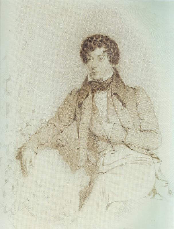 **Данијел Меклиз** (1806—1870), Млади Бенџамин Дизраели, 1829.
