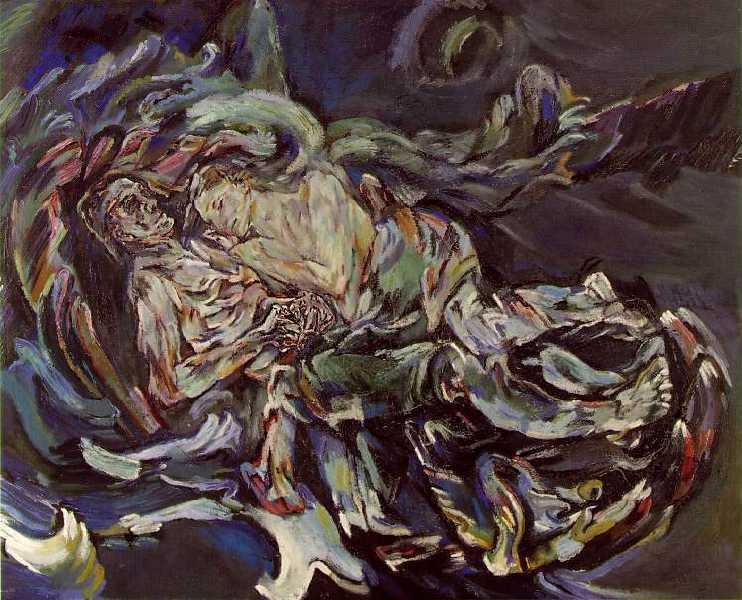 Оскар Кокошка, Невеста ветра, уље на платну из 1913. године