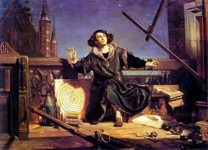 **Јан Матејко** (1838–1893), Астроном Коперник, Разговор са Богом, уље на платну.