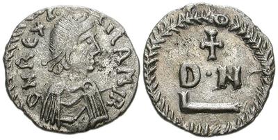 Новчић краља Гелимера, искован у Картагини