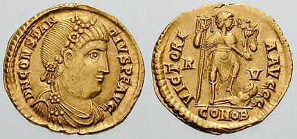Zapadno rimsko carstvo Novcic-konstancije-iii