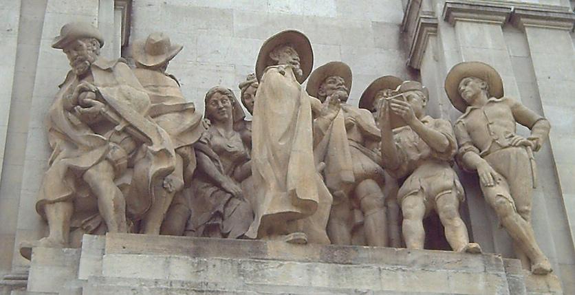 Ринконете и Кортадиљо. Скулптура са Шпанског трга у Мадриду (Федерико Куло-Валера), додата споменику Сервантесу 1960. године.