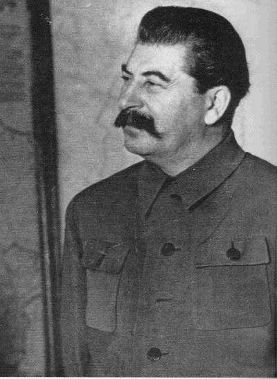 **Јосиф Висарионович Стаљин** (1878—1953), совјетски лидер, фотографски портрет из око 1936. године.