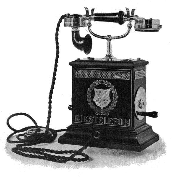 Телефонски апарат, фотографија објављена 1896.