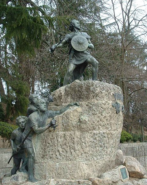 **Споменик Виријату** у граду Визеу, Португалија.