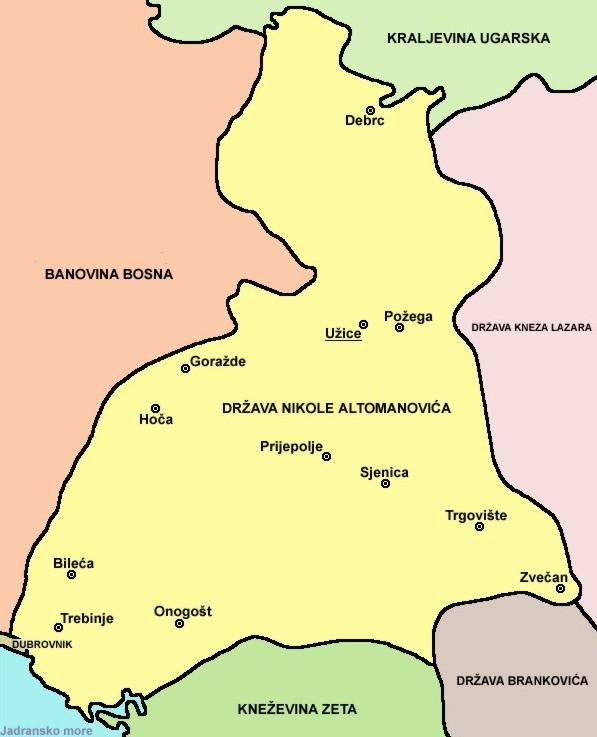 Територије Николе Алтомановића